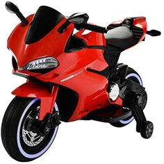 Uenjoy Kids Motorcycle Battery Powered Ride On Motorbike with 2 Speeds, Spring Suspension, LED Lights, Leather Seat , Red ** Read more at the image link. (This is an affiliate link) Toy Cars For Kids, Toys For Girls, Kids Toys, Kids Motorcycle, Motorcycle Battery, Pool Toys And Floats, Baby Play House, Arma Nerf, Best Kids Watches