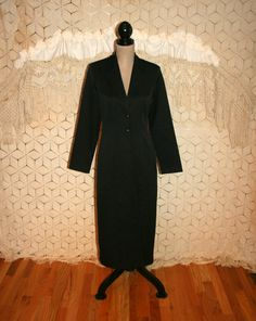 Vintage Long Black Coat Goth Clothing Steampunk by MagpieandOtis