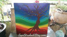 Chakra Tree- Chakra Painting - Tree Spirit Painting - Chakra Art  https://www.etsy.com/listing/233476224/chakra-tree-painting-24x24-original