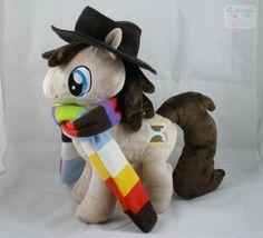 My Little Pony, #DoctorWho mashup plush