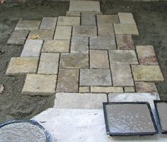 Homemade paver stones image  http://www.themoldstore.us/productinfo.aspx?productid=P-5006-OR