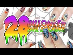 Cute and Easy DIY Halloween Nails! Inexpensive Beginner Nail Art Design Tutorial - YouTube