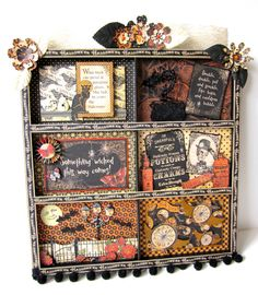 Halloween Graphic 45 Inspired Steampunk Printers Tray by paperwild, $85.00