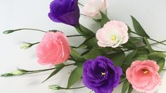 ABC TV | How To Make Lisianthus Paper Flowers From Crepe Paper - Craft T...