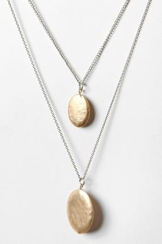 """Double Hammered Drop Necklace -- """"I wear this necklace every day, without fail..."""""""