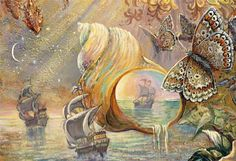 """""""Ships and Shells (Detail Crystal of Enchantment)"""" par Josephine Wall"""