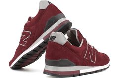 NEW BALANCE 996 Series M996RR    Red / White  A comfortable, lightweight, and stylish athletic shoe.  Leather/Suede/Mesh upper provides lightweight comfort and support.  Lace-up upper provides custom, secure fit.  Lightly padded footbed for added comfort and support.  ENCAP Wedge/C-CAP provides durability, stability and cushioning.  Carbon rubber outsole provides long-wearing durability.  SL-1 Last.  Made in USA