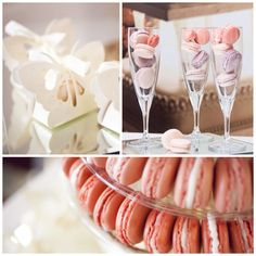 Summery dreamy wedding macarons www.patisseriesix.co.uk