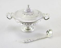 Silver soup tureen and ladle   Dolls House Miniatures