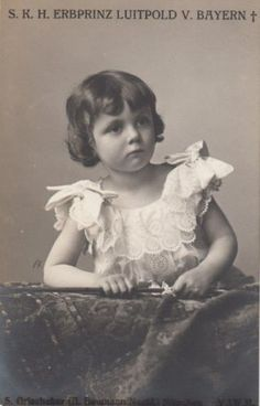 Sweet little Heir Prince Luitpold of Bavaria - RARE pad