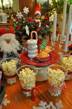 North Pole Breakfast at Design to Shine; thought popcorn might be a good idea