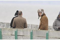 Harry shooting a video in Clevedon! :) 3.24.14  Harry would be better to go naked and not wear real fur or real leather -_-