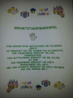 Fingerspiel zum Geburtstag