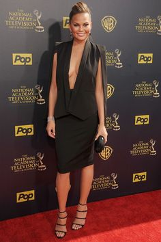 Mrs John Legend leaves little to the imagination upon arrival at the Daytime Emmy Awards in LA.