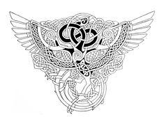 Celtic Phoenix outlines by Feivelyn.deviantart.com on @deviantART