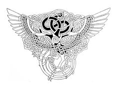 Celtic Phoenix outlines by Feivelyn.deviantart.com on @deviantART