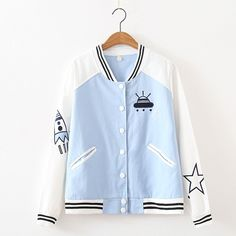 New Spaceship Embroidered Bomber Jackets sold by Harajuku fashion. Shop more products from Harajuku fashion on Storenvy, the home of independent small businesses all over the world.