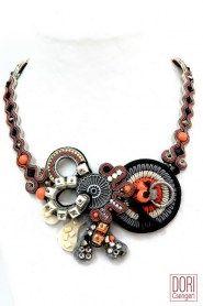 Daphne unique designer maker necklace by Dori Csengeri