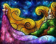 Starry Lights Print By Mandie Manzano