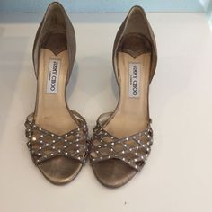 9c8e7578161f Shop Women s Jimmy Choo Gold size Heels at a discounted price at Poshmark.  Description  Good condition