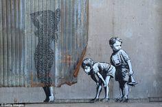 The 20 most stunning works of street art of by Banksy, Weston-super-Mare, Britain 3d Street Art, Street Art Banksy, Murals Street Art, Urban Street Art, Amazing Street Art, Best Street Art, Street Artists, Urban Art, Amazing Art