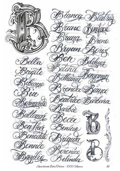 Chicano Tattoos Lettering, Tattoo Lettering Design, Graffiti Lettering Fonts, Creative Lettering, Script Lettering, Tattoo Fonts, Script Alphabet, Alphabet Symbols, Hand Lettering Alphabet
