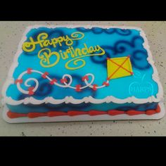 Cake Decorating Frosting, Cookie Decorating, Decorating Ideas, Birthday Cake For Him, Birthday Cakes, Happy Birthday, Cake Pictures, Cake Pics, Dairy Queen Cake