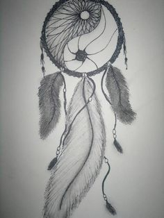 Afbeelding via We Heart It https://weheartit.com/entry/140646425 #art #awesome #drawing #dreamcatcher #pattern #yinyang