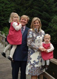 Foto van de Prins van Oranje, Prinses Máxima, Prinses Catharina-Amalia en Prinses Alexia, oktober 2006
