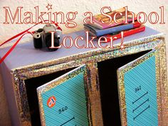 American Girl Doll Play: Doll Craft: Making a Set of School Lockers for Your Dolls My American Girl Doll, American Girl Crafts, American Girl Clothes, Crafts For Girls, Diy For Girls, Kids Crafts, Locker Crafts, Tape Crafts, Ag Doll Crafts