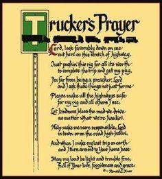 Trucker'S Prayer Coverlet ©Ron Knox Tapestry