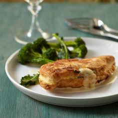 Cheese-Stuffed Chicken Cutlets with Mustard Sauce | Food & Wine