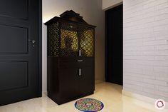 pooja room vastu tips_mandir gopuram Temple Design For Home, Home Temple, Mandir Design, Pooja Mandir, Pooja Room Door Design, Puja Room, Indian Homes, Prayer Room, Room Doors