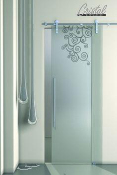 betonica: la porta in vetro stratificato cristal nel modello ... - Porte In Vetro Scorrevoli Esterno Muro