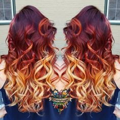 Hairstylist Kasey O'Hara Skrobe recently created this red-hot hair color for her client. Sharp contrast and fiery hues result in a stunning, fearless look. Recreate Kasey's Fire Ombré with her how-to below!