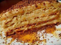 """Торт """"Крем-брюле""""Похож на """"Наполеон"""".Делается практически так же,только крем другой, коржей меньше и они толще.Ну в общем мне очень понравился) Кофейно-шоколадно-ванильный вкус) Пошаговое фото делать …"""