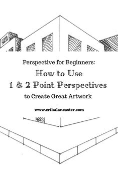 Drawing Perspective for Beginners. How to use the 1 and 2 point perspective techniques to create great artwork. Drawing Skills, Drawing Tips, Drawing Sketches, Drawing Ideas, Drawing Techniques, 2 Point Perspective Drawing, Perspective Art, Drawing For Beginners, Drawing Tutorials