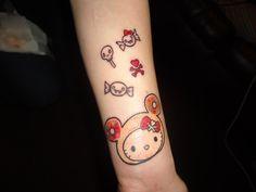 Hello Kitty Tokidoki Donut  Tattoo Kawaii Tattoo Blog