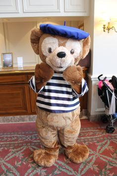 Duffy the Disney Bear in a French Costume.