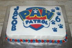 Paw Patrol Cake Birthday Sheet Cakes, 4th Birthday Cakes, Birthday Ideas, Paw Patrol Birthday Cake, Paw Patrol Cake, Different Cakes, Cakes For Boys, Cute Cakes, Themed Cakes