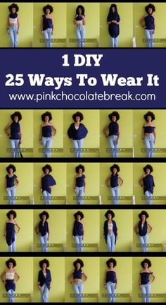 diy convertible clothing one item 22 ways to wear it travel clothes - pinkchocolatebreak.com
