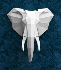 32 Inspired Picture of Origami Sculpture Art Origami Sculpture Art Presentation Of My New Sculpture Out Of Paper The Unfolded Origami Design, Origami Paper, Diy Paper, Origami Wall Art, Origami Fish, Arte Sketchbook, Wall Ornaments, Origami Ornaments, Elephant Head