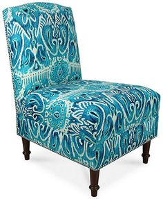 "Barstow Accent Chair, Alessandra Teal 22""W x 30""D x 35.5""H 479.00 sale thru 2/4"