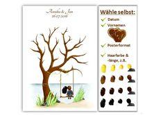 Der Fingerabdruck-Baum eignet sich super als originelles Gästebuch für die Hochzeit und auch als individuelles Geschenk oder Hochzeitsspiel für das Brautpaar. Mit jedem Fingerabdruck und Namen wird...