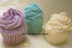 Mini cupcake soaps. makes fun party favors..