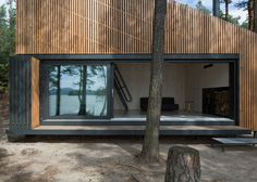 This Timber Cabin Blends in with Its Natural Environment #design trendhunter.com