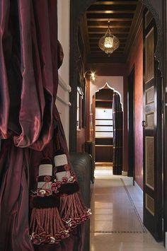 Marrakech Luxury Hotel La Mamounia Re-Opens Moroccan Theme, Moroccan Design, Moroccan Style, Purple Curtains, Tassel Curtains, Mamounia Marrakech, Beautiful Curtains, Passementerie, Window Dressings