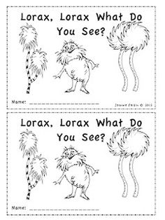 lorax emergent reader