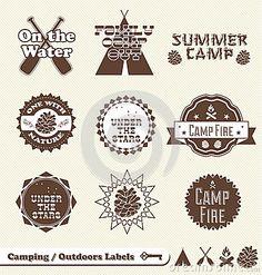 Campfire party award badges? Royalty Free Stock Image - Image ...