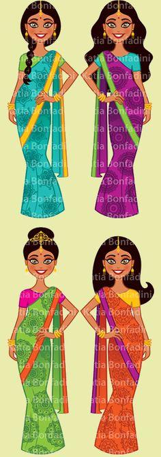 Ilustração para kit de festa temática indiana